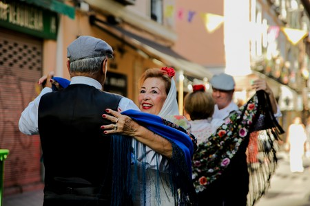 One way Chulapos celebrate is by dancing the chotis in the street