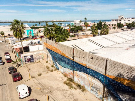 'Ballenon' by Dagos is one of many murals in La Paz, Baja California Sur, Mexico