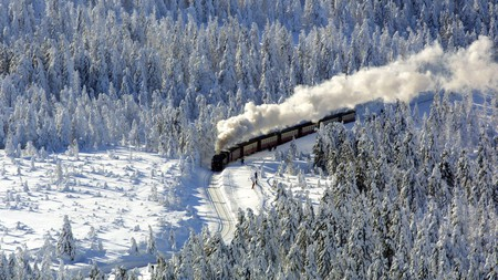 Travelling on the Brockenbahn in winter is nothing short of magical