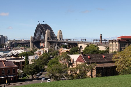 Sydney Harbour Bridge from Observatory Hill Park