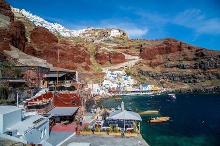 Santorini's Ammoudi harbour has a number of charming tavernas