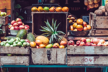 Fresh squeezed juice market store