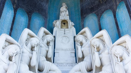 Discover the ornate tombs and monuments of the Monumental Cemetery of Milan