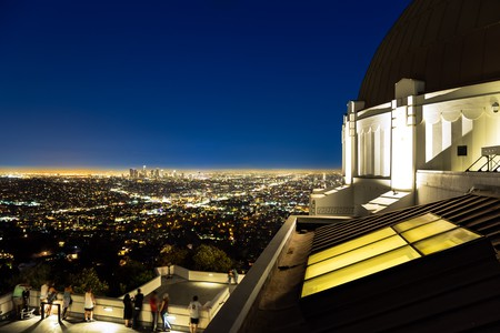 Los Angeles Skyline and Griffith Observatory at Night