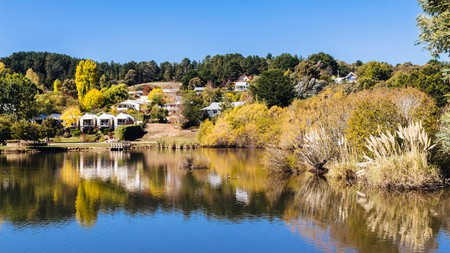 The scenic views of Daylesford during the autumn