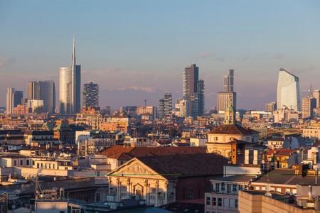 """Milan isn't stopping,"" declares an advertising agency in the city"