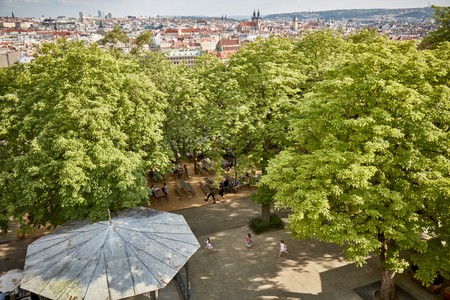 Letná Beer Garden is among the most popular places to enjoy a beer in Prague during the warmer months