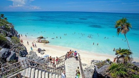 Tulum offers a stunning combo of Mayan ruins and Caribbean white-sand beaches