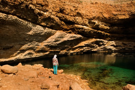 Muscat has some stunning open spaces to explore, including the Bimmah Sinkhole