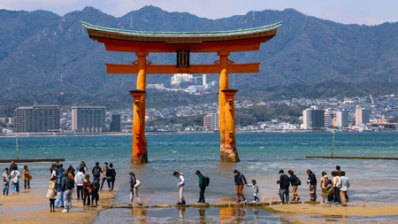 Torii mark the entrances to Shinto shrines and divide the sacred from the ordinary