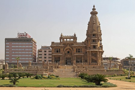 Baron Empain Palace is in Heliopolis, a popular district of Cairo