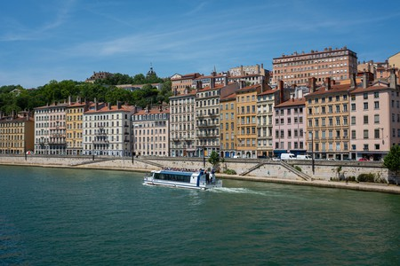 An electrically powered riverboat on the Saône