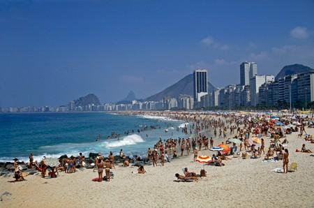 Copacabana beach is a central hub in the party city of Rio de Janeiro