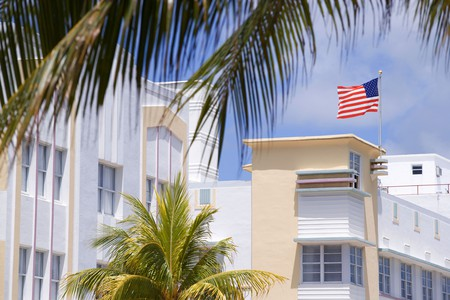 The Art deco buidlings in South Beach, Miami are one of the highlights of the USA's south coast