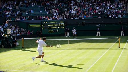 Novak Djokovic demolishes Jérémy Chardy on Centre Court in 2011, winning in straight sets