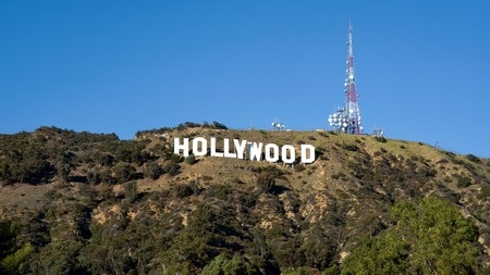 The famous Hollywood Sign in the Hollywood Hills, Los Angeles