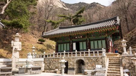Buddhist Temple Nojeoksa, Bukhan Mountain, Seoul, Korea.