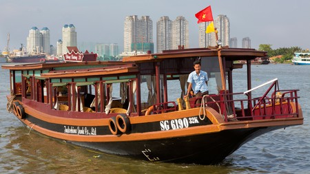 See Ho Chi Mihn City by boat on a river cruise |