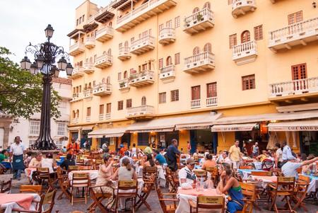 Restaurant in the Plaza de Santo Domingo, Cartagena de Indias, Colombia