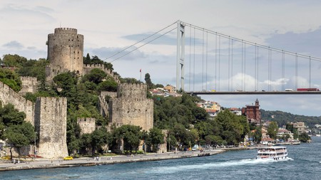 Rumeli Hisari on the Bosphorus is one of Istanbul's many attractions