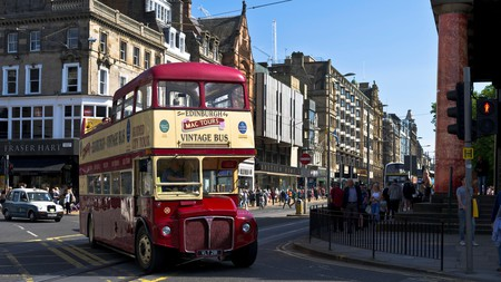See Edinburgh's sights from the top deck of a vintage double-decker bus