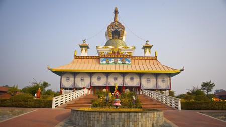 Temple in Lumbini, Nepal