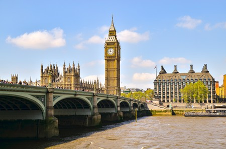 Westminster Bridge with Big Ben and the Houses of Parliament in the background