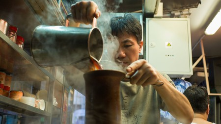Lai cha is a smooth, sweet milk tea favoured in Hong Kong