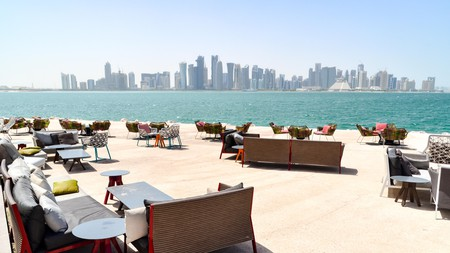 Some cafés in Doha offer guests beautiful views