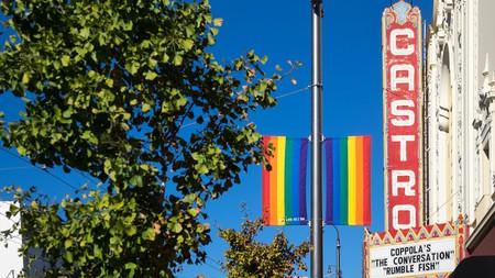 The marquee of the iconic Castro Theatre, in The Castro District, San Francisco, California.