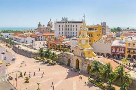 The Torre del Reloj clock tower in Cartagena is an unmissable landmark