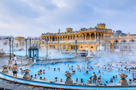 Take a dip in Budapest's world-renowned Széchenyi Baths