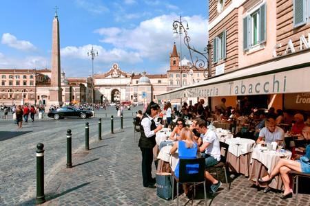 Rome's famous Piazza del Popolo is a great spot to take a break from sightseeing |