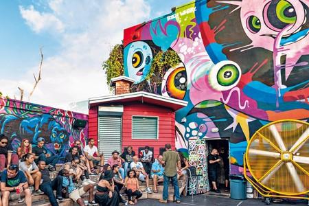 Explore graffiti art in the Wynwood area of Miami