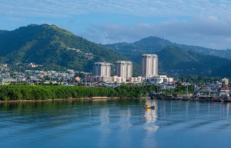 Entrance to Port of Spain Harbour in Trinidad & Tobago