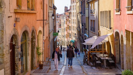 Some of the streets of the Old Town in Lyon are more accessible than you might think