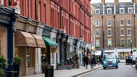 Chiltern Street in Marylebone is well known for its red-brick facades and trendy boutiques