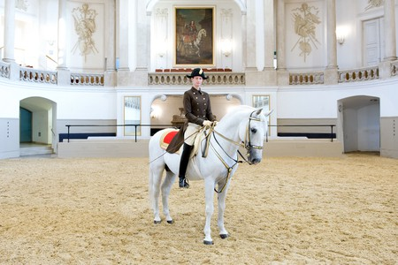 Hannah Zeitlhofer became the first woman to perform in the Spanish Riding School's famous arena