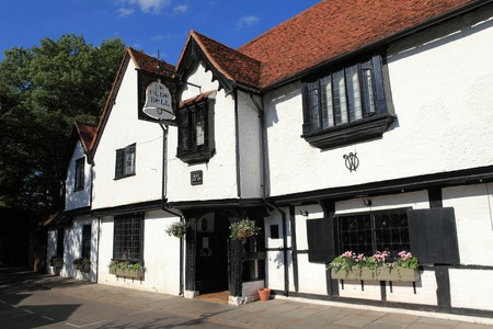 The historic Olde Bell Inn hosted a meeting between Dwight D. Eisenhower and Winston Churchill during World War II