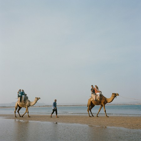 When the tide is low, Naz Island can be accessed from Qeshm by foot, motorbike or even on a camel