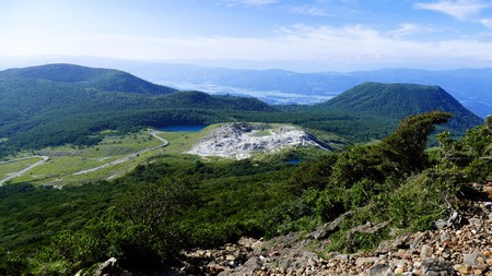 Breathe in the fresh air of the great outdoors on a mountain hike in Kagoshima