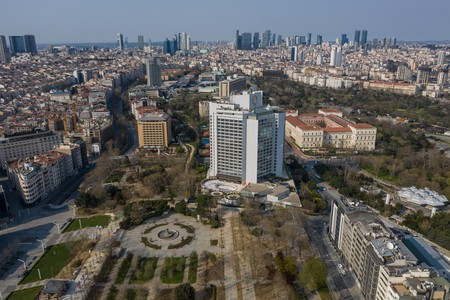 Taksim Gezi Park and the surrounding area