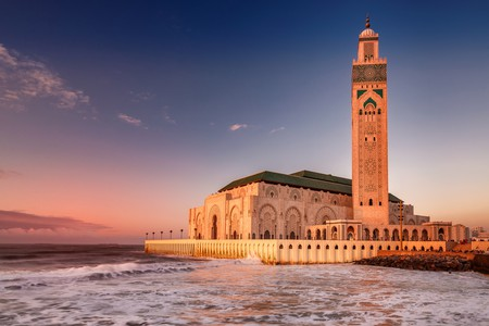 The Hassan II mosque in Casablanca is the largest mosque in Africa