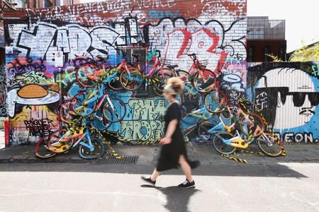 Unknown Artist Creates oBike Mural In Fitzroy