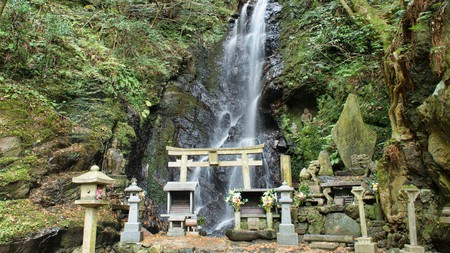Waterfalls are sacred to those who practice Shinto, Japan's indigenous religion