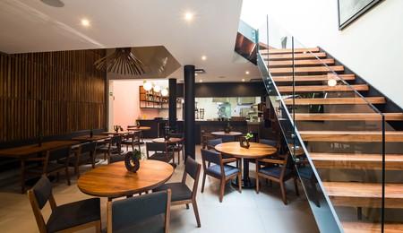 Inside Oswaldo Oliva's restaurant Lorea in Mexico City