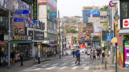 Itaewon is a diverse and vibrant neighbourhood in Seoul