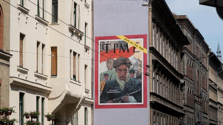 The 'Man of the Year' mural in Budapest is a recreation of the 1956 'Time' magazine cover