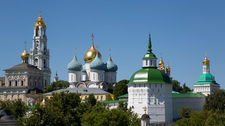 The Holy Trinity Saint Sergius Lavra, UNESCO World Heritage Site, Russia.