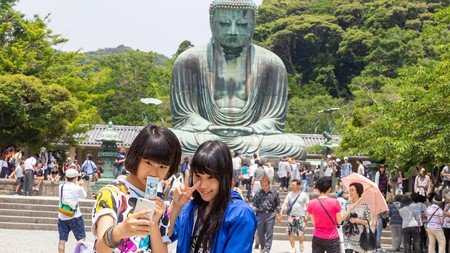Whereabouts in the world is it illegal to take selfies in front of idols of Lord Buddha?